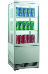 Шкаф-витрина холодильная EWT INOX RT58L